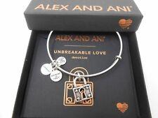 Alex and Ani Unbreakable Love Bangle Bracelet Rafaelian Silver New Tag Box Card