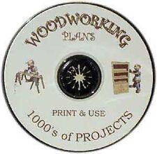 LEGNO PDF piani * 1000's & 1000's su un CD * Build It Yourself * Print & USA