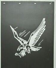 "BLACK POLY 24""x30"" MUD FLAPS SILVER  EAGLE -  PAIR"