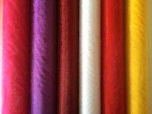 Organza 1m Stoff 1,49€/m viele Farben Breite 150cm Dekoration,Basteln,Hochzeit,