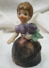 antique figural girl Perfume Bottle / marked Germany / half doll head tiny chips
