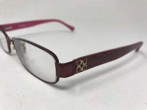 COACH Taryn Eyeglasses Designer HC5001 9022 52-16-135 Burgundy Pink NP66