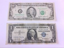 2 FRN Mistake Notes- 1985 $100 and 1957 Blue Star- MISALIGNED ERROR. BUY NOW!!