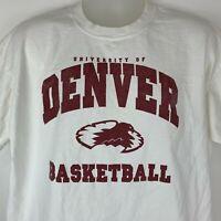University of Denver Basketball X-Large T Shirt NCAA Colorado Ruckus Graphic Tee