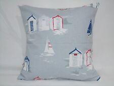 """2 X modern beach Hut Cushion covers, 100% cotton,16""""x16"""""""