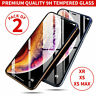 2xFor iPhone 11 Pro X XS Max XR 9D Tempered Glass Premium Full Screen Protector