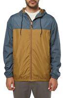 O'Neill Mens Jacket Slate Blue Ochre Size L HyperDry Del Ray Windbreaker $55 028