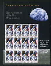 First Moon Landing 25th Anniversary 29¢ Sheet of 12 MNH Sc 2841