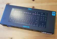 Logitech G Pro Mechanical Wired Gaming GX Blue Clicky Switch Keyboard with RGB