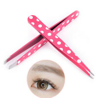 2Pcs/Set Hair Removal Eyebrow Tweezer Eye Brow Clips Beauty Makeup Tools SPPYW