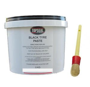 Black Tyre Fitting Paste With Brush Premium Lub Tyre Soap 5kg Tub