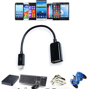 USB 2.0 Host OTG Adaptor Adapter Cable Cord For Sony XperiaS Android Tablet_gm
