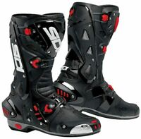 Sidi Vortice White Black Supersport Motorcycle Boots
