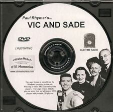 VIC AND SADE - 347 Shows Old Time Radio In MP3 Format OTR On 1 DVD