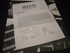 INXS 1994 desk letter style PROMO DISPLAY AD with faux first name signatures