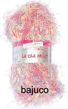 "Schoeller + Stahl ""La Ola Print""  Farbe 003 lampion 50g"