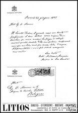 PUBBLICITA' 1925 ACQUA MINERALE LITIOS FARMACIA VATICANA PAPA A. NEPPI BOLOGNA