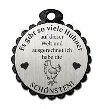 Deko Anhänger « DIE SCHÖNSTEN HÜHNER DER WELT 05» Geschenk Dekoration Huhn Eier