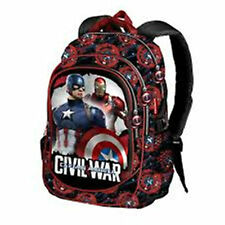Marvel CAPTAIN AMERICA Civil War - Large 3-Compartment Backpack (2774)