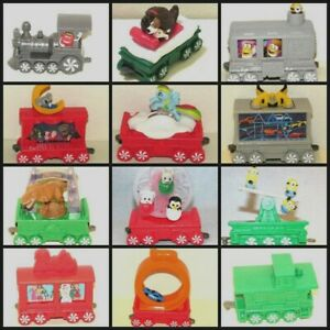 2017 Mcdonald's Holiday Express Happy Meal Toy Train Cars, You Choose Trains