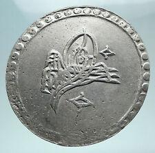 1789-1807 AD TURKEY Sultan Selim III Ottoman Empire Silver Coin i80875