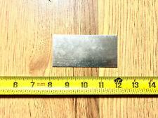18 gauge Galvanized steel sheet metal scrap 10 pieces 4'' x 2''