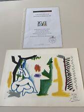Hand Signed + COA + Original Pablo Picasso Lithograph Les Dejeuners - Paris 1961