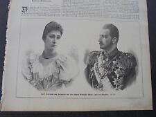 1893 Stich 51  / Ferdinand von Bulgarien ...Adel...