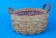 Longaberger Small Round Basket 2002 With Fabric Liner