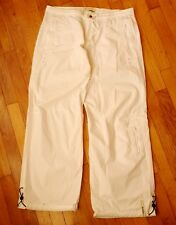 ROXY Quiksilver Size UK 8-10 white summer cotton cargo pants trousers