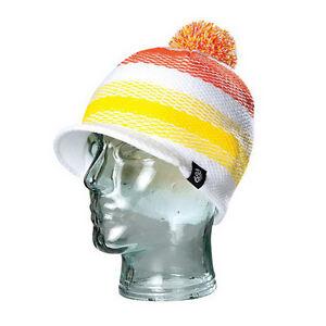 686 Mingle Visor White/Orange Beanie One Size Fits All NEW !!