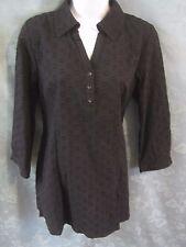 Denim & Co. Tunic Top Size Small Pullover Textured 100% Cotton