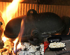 Cast Iron Cooking Pod Popcorn Baked Potatoes Wood Burning Stoves Fires BBQ Oven