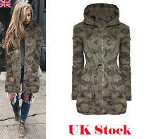 Boyfriend Womens Hooded Long Sleeve Coat Jacket Windbreaker Trench Parka Outwear