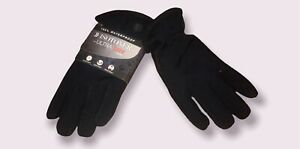 NEW MEN'S ISOTONER ULTRA DRY LINING GLOVES BLACK SIZE XL 100% WATER PROOF