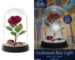 Die schöne und das Biest Lampe Rose Tischlampe USB Touch NEU