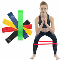 5PCS Resistance Band Fitness Ring Exercise Leg Yoga Fitness Exercise Band US