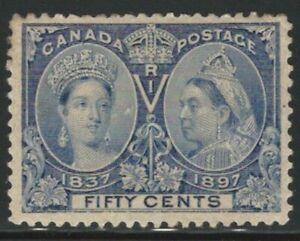 Canada, 1897, 50c Jubilee, Scott #60, Mint, Hinged, Very Fine