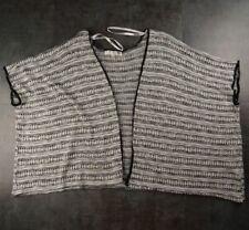 Say What Black White Kimono Knit Jacket Rayon One Size Fits All