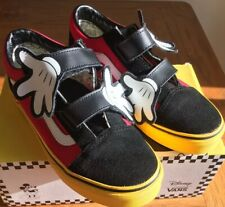 Disney Mickey Mouse Youth Adult UK 2.5 Vans Disney Holiday Shoes!!! Getting Rare
