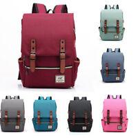 Men Women Shoulder Canvas Backpack Rucksack School Travel Laptop College Bag
