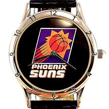 Phoenix Suns, Lady Fossil Relic Official NBA Black Leather Band Quartz Watch $59