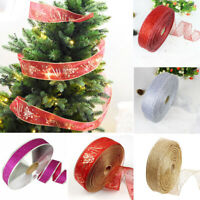 2019 Christmas Tree Ribbon Decoration Bow Tie Party Xmas Ribbon Decoration 2M