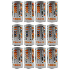 12PCS D 11000mAh 1.2V Ni-MH Rechargeable Battery RC Toy Radio Torch UltraCell