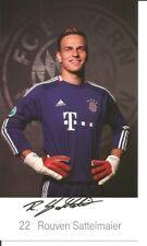 FC Bayern München Autogrammkarte Rouven Sattelmaier