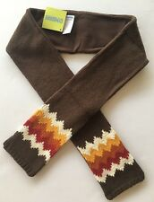 NWT Gymboree Alaskan Adventure Brown Sweater Knit Fleece Fair Isle Zig Zag Scarf