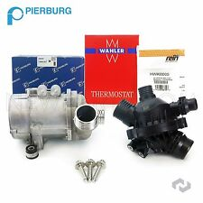Pierburg Brand Electric Engine Water Pump & Thermostat w/ 3-Bolt kit For BMW