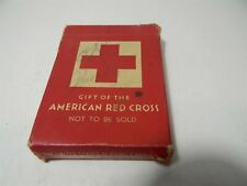 WW2 Red Cross Aviator Pinochle Playing Card BOX ONLY U.S. Government - 5B1