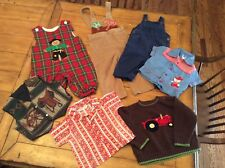 7 Piece Lot Vintage mid century 12 - 24M  Boy Clothes Farm ranch country themed