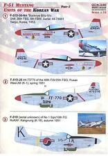 Print Scale Decals 1/72 P-51 MUSTANG UNITS OF THE KOREAN WAR Part 2